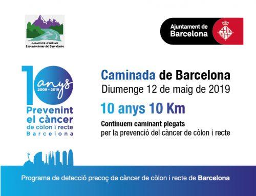10 anys, 10 Km: Caminem plegats per la prevenció del càncer de còlon i recte